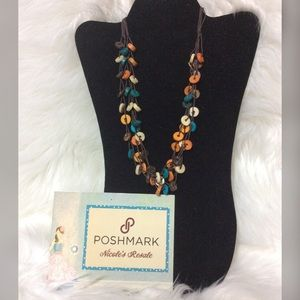 Paparazzi Necklace Wooden Fall Colors